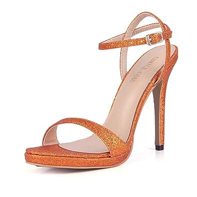 CHMILE CHAU-Scarpe da Donna-Sandali Tacco Alto a Spillo -Nuziale-Sposa-Eleganti-Moda-Partito-Cinturino alla Caviglia-Piattaforma  1cm  Amazon.it  Scarpe e ... 9f2063999bc