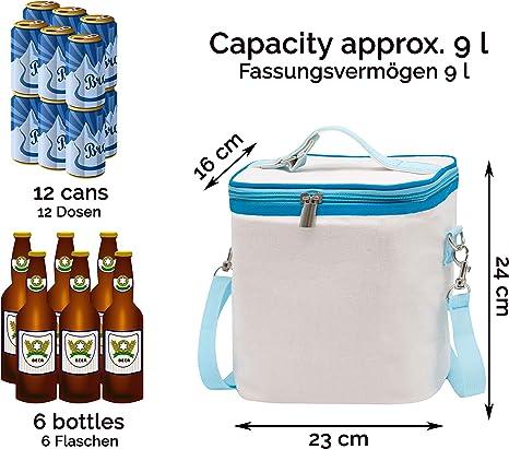 ZOLLNER24 Bolsa t/érmica para comida 23x16x24 cm 9 litros de capacidad