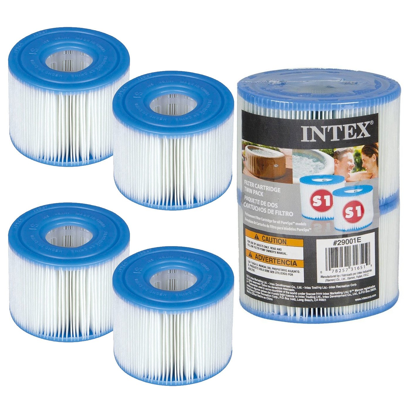 4 Intex Filter Cartridges for Spa Filter - Intex Type S1 Générique