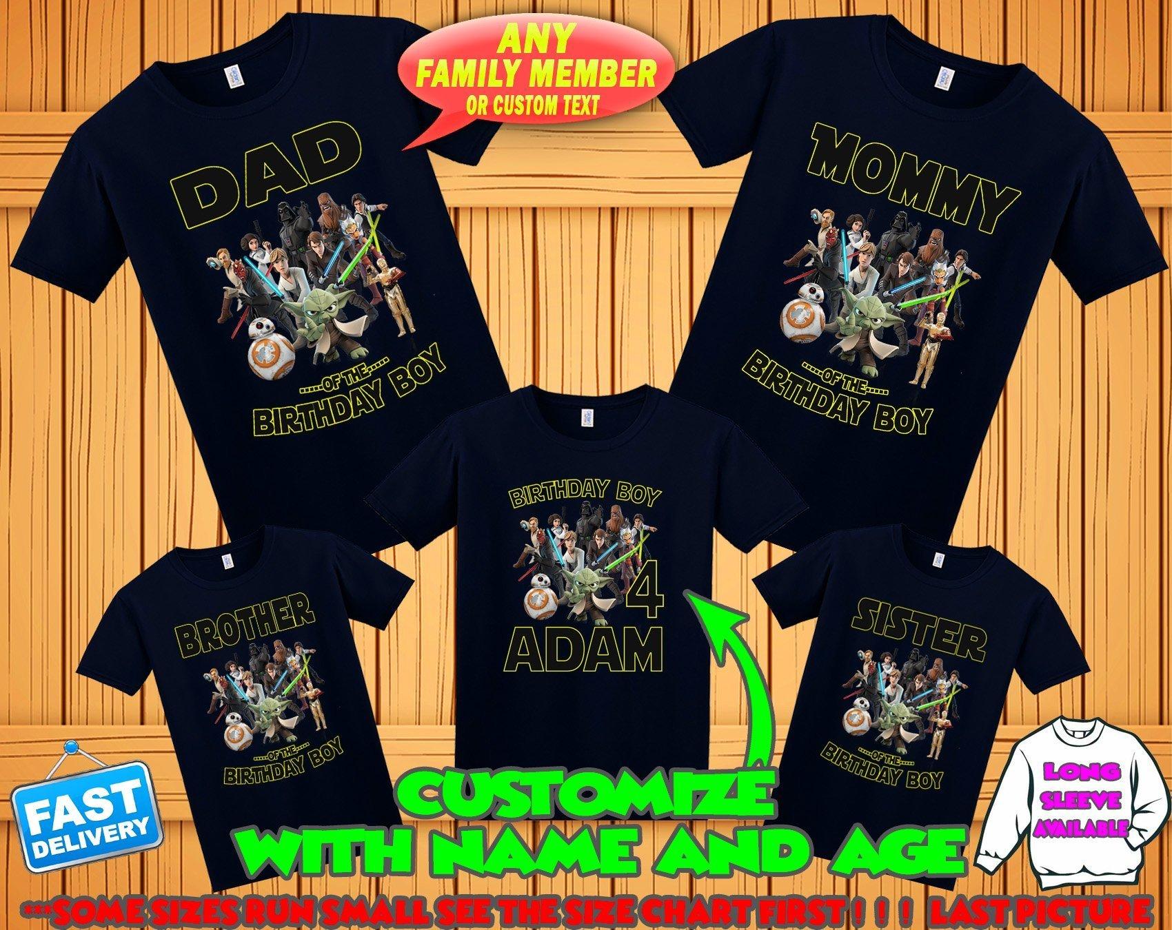 Star Wars birthday shirt, Star Wars family shirts, Star Wars theme party tshirts,Star Wars matching shirts, Star Wars boy's shirt, Star Wars