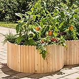 Naturholz Shop Hochbeet Weide 120x80 Cm Gartenhochbeet Aus Holz Mit