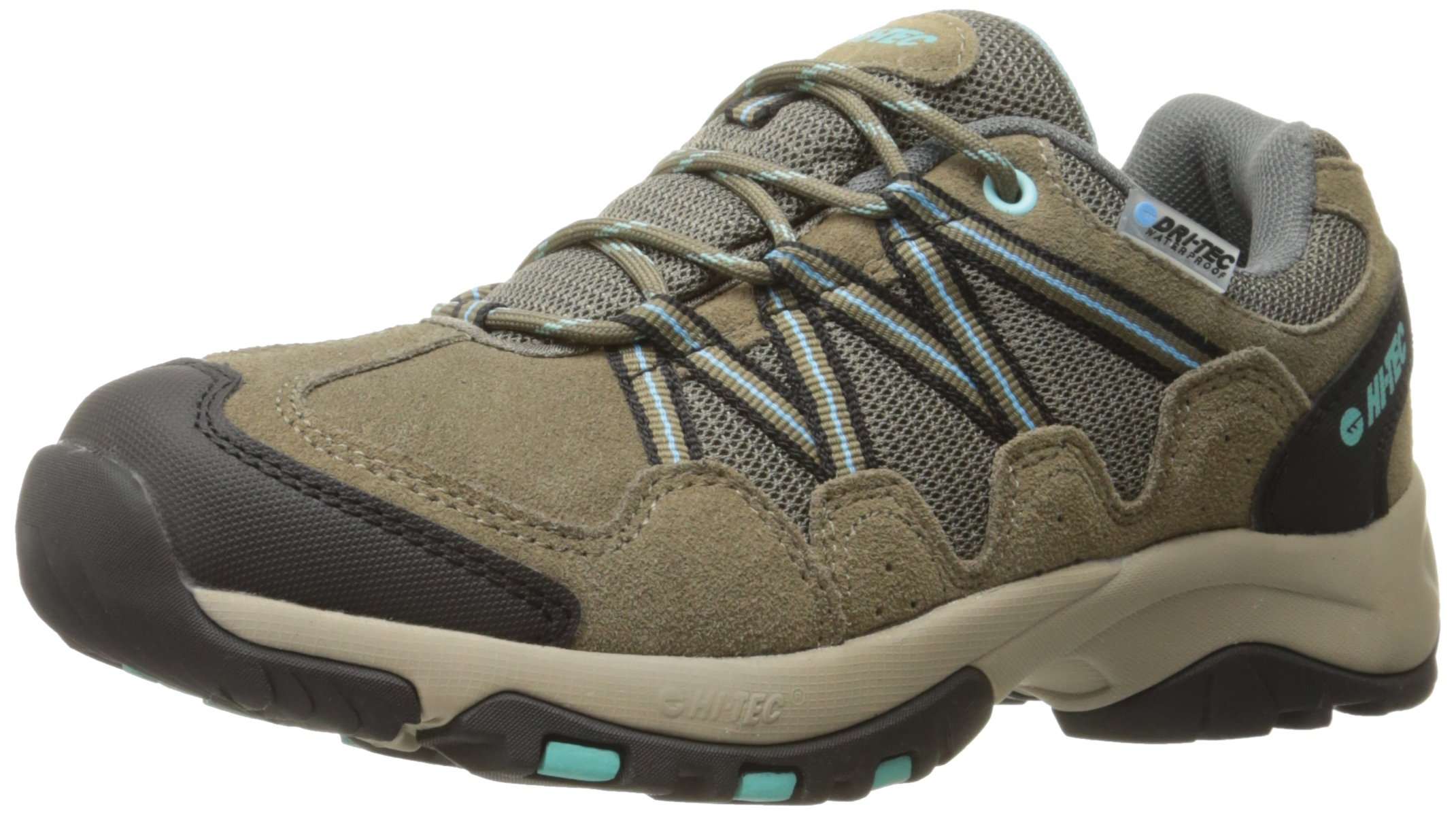 Hi-Tec Women's Florence Low Waterproof Multisport Shoe, Taupe/Mint, 9.5 M US