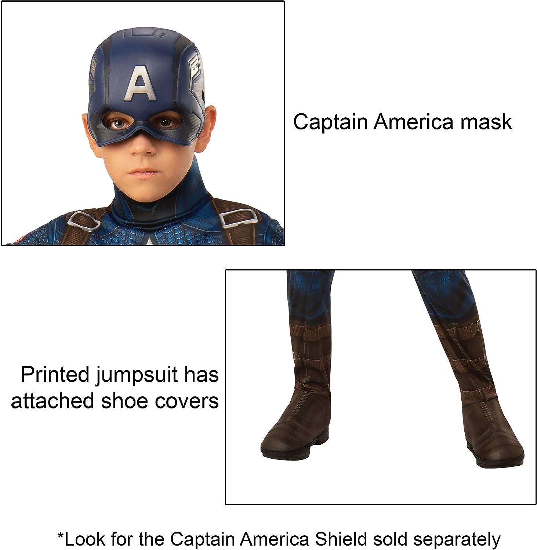 Rubies Marvel: Avengers Endgame Childs Captain America Costume & Mask, Large
