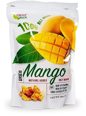 Paradise Green Dried Golden Thailand Mango 100% All Natural No Added Sugar No Preservatives