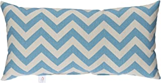 product image for Glenna Jean North Country Pillow, Rectangular Blue/Grey Chevron