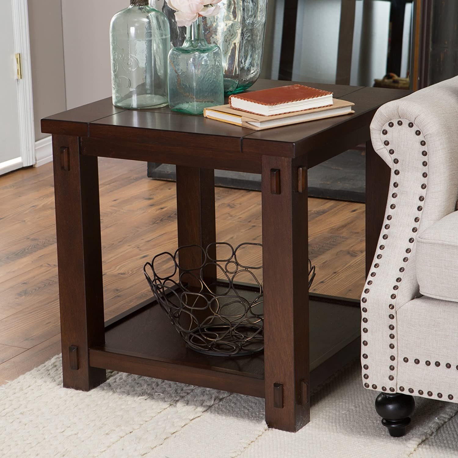 Amazon Belham Living Bartlett Square End Table Kitchen & Dining