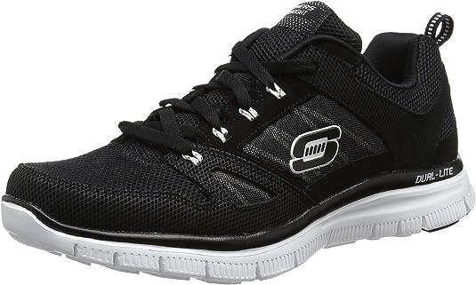 la seguridad carbón carro  Skechers Flex Advantage, Zapatillas de Estar por casa Hombre, Negro (BKW),  44 EU: Amazon.es: Zapatos y complementos