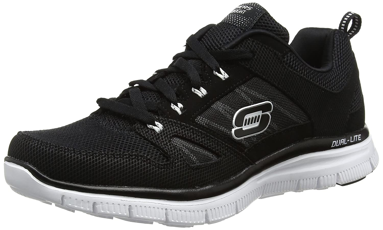 Skechers Herren Flex Advantage Sneaker  45 EU|Schwarz (Bkw)