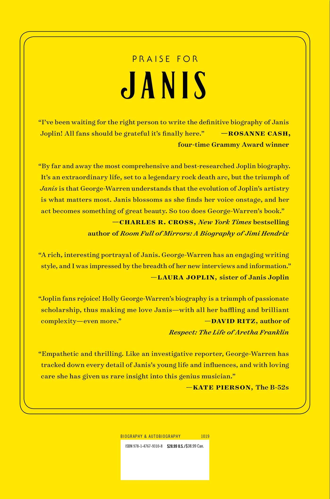 Janis: Her Life and Music: Holly George-Warren