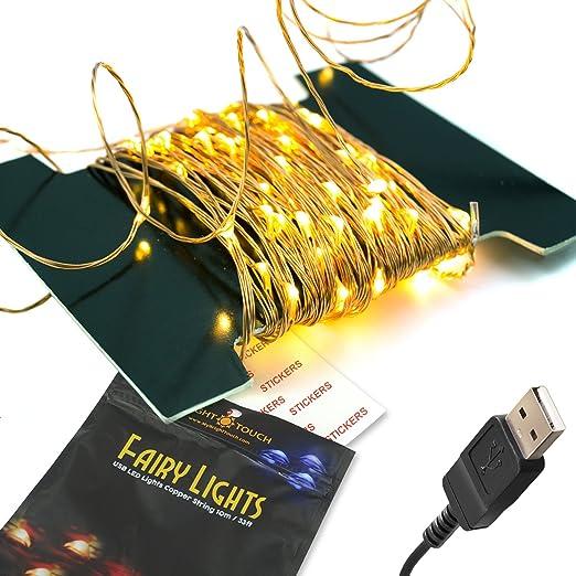 51 opinioni per BrightTouch 100 LED 10m Rame Stringa Striscia Lampada Fata Con Connettore USB,