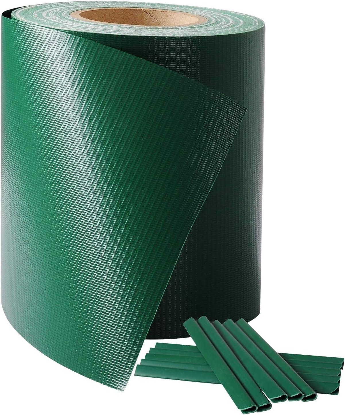 Laneetal PVC Valla Protectora de privacidad Bandas de Ocultación para Verjas Doble Cara para Jardín Balcón 0.19 x 36 cm Verde: Amazon.es: Jardín