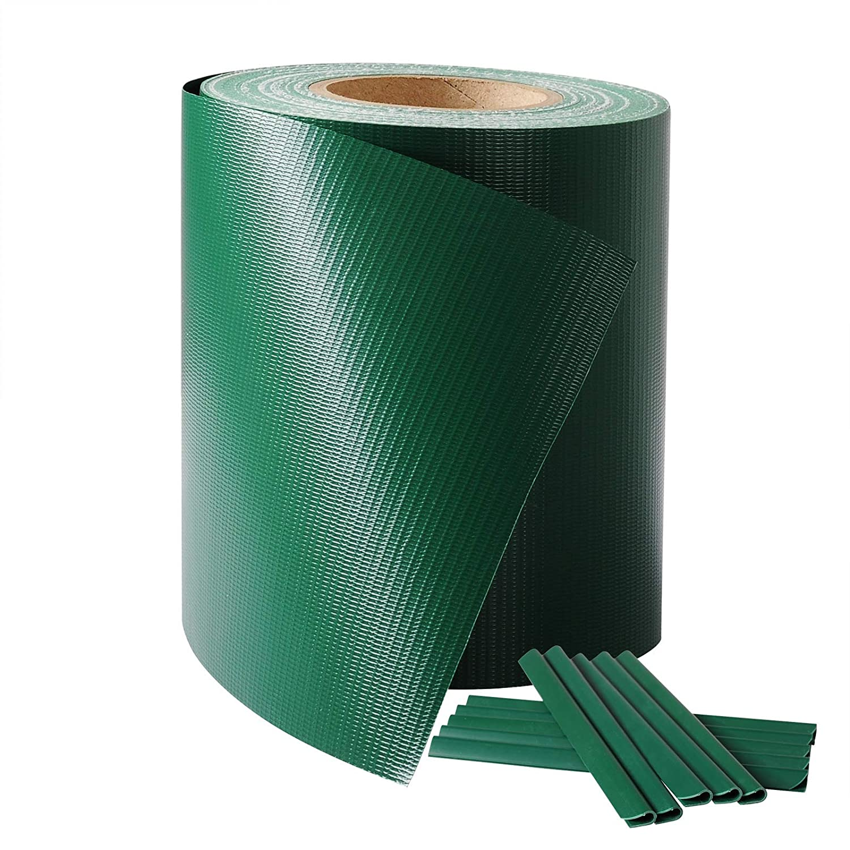 Laneetal PVC Valla Protectora de privacidad Bandas de Ocultaci/ón para Verjas Doble Cara para Jard/ín Balc/ón 0.19 x 36 cm Verde
