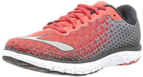 7a667a71ef848 Brooks Men's PureFlow 5 High Risk Red/Black/Silver Sneaker 8. 5 D (M ...