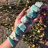 Simurg Raw Amazonite Stone A Grade Amazonite Rough for Cabbing,Tumbling,Cutting,Lapidary,Polishing,Reiki Crytsal Healing