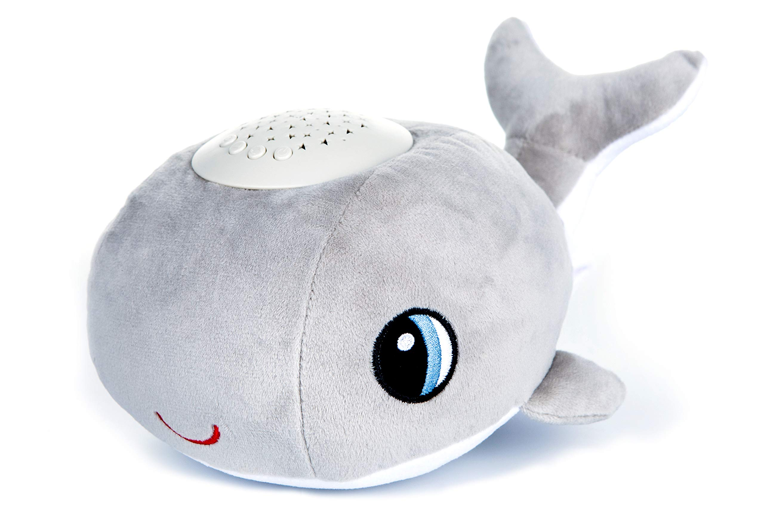 Baby Sleep Soother Sound Machine - Favorite Baby Shower Gift - Portable Stuffed Animal Light Projector Baby Gift