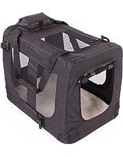 TRESKO Transportbox faltbar inklusive Polster Hundebox Autobox Katzen in Verschiedenen Farben & Größen