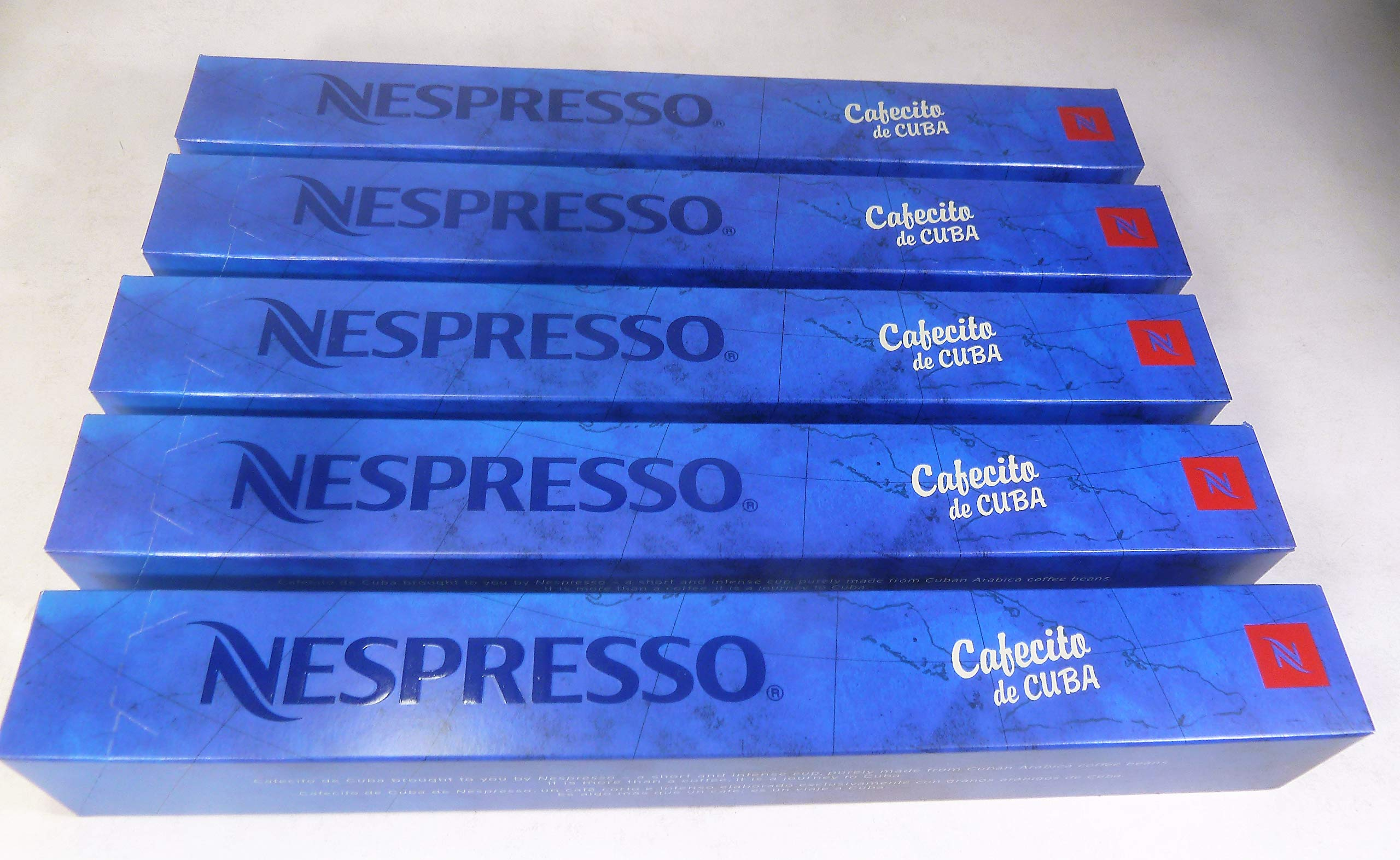 NESPRESSO (FOR COLLECTORS - after best before date) CAFECITO DE Cuba 5 Sleeve (50 Capsules) Limited Edition Coffee