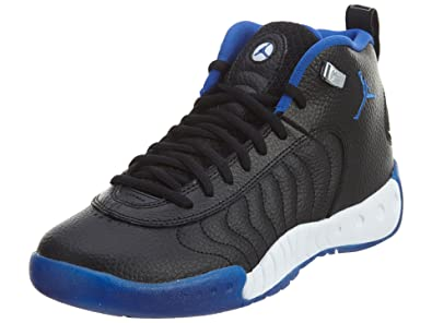 cfc6d8d4ed Jordan Boy s Jumpman Pro Basketball Shoe Black Varsity Royal-Metallic  Silver 6.5Y