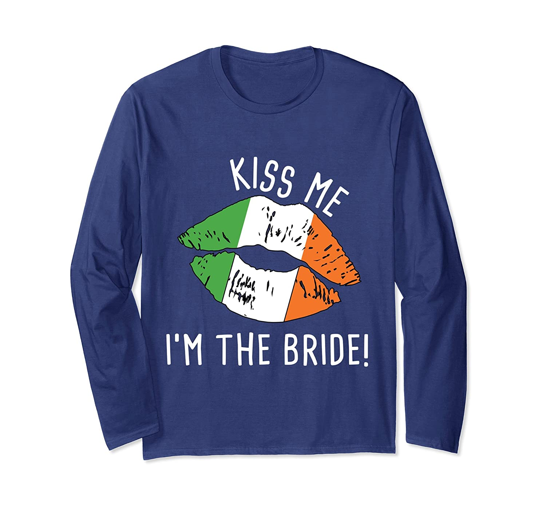 e9cbe398f Amazon.com: Kiss Me St Patricks Day Bachelorette Party T-Shirt Bride:  Clothing