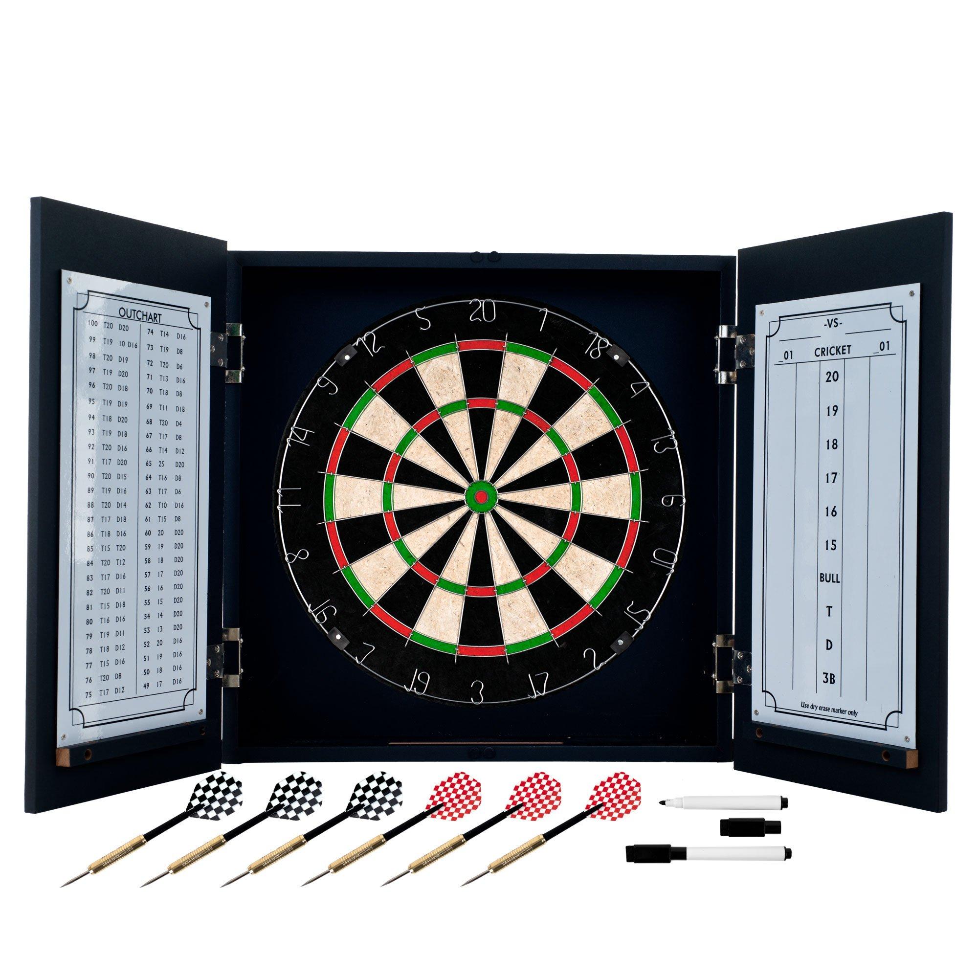 TG Laminate Dart Cabinet Set (Black, 3.5 x 19.5 x 20-Inch)
