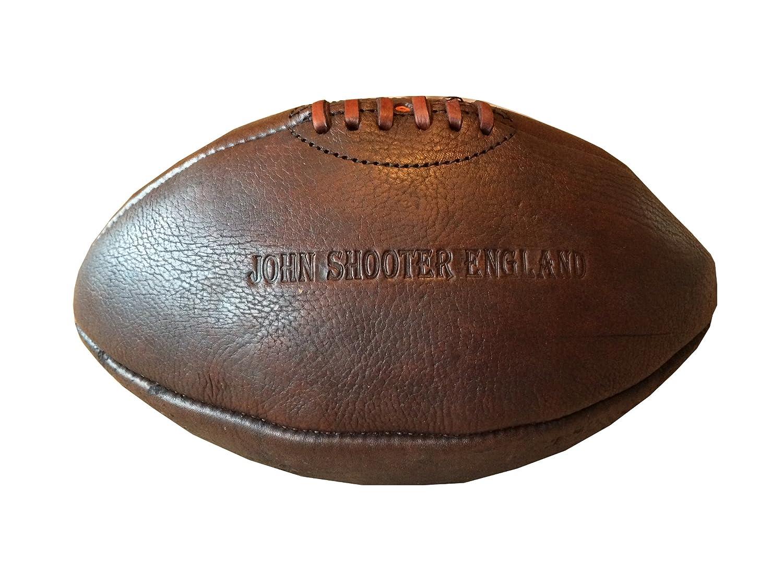 John Shooter England Vintage in pelle palla da rugby mano Cut & cucita in pelle di mucca
