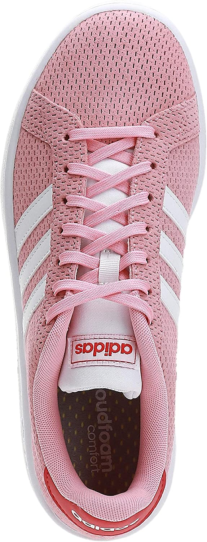 adidas Grand Court, Chaussures de Tennis Femme Rose Gloire Blanc Ftwr Rouge Gloire
