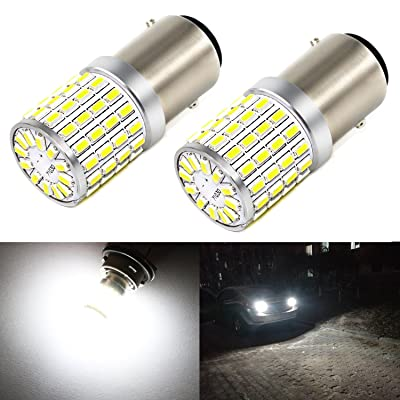 Phinlion 2000 Lumens LED 1157 Bulbs Super Bright 3014 72-SMD 2357 7528 BAY15D 1157 LED Bulb for Backup Reverse/Turn Signal/Brake Stop Tail Lights, 6000K Xenon White: Automotive