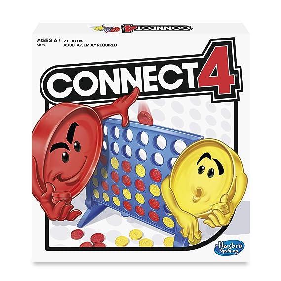 Hasbro Gaming - Conecta 4, Juego de Habilidad (versión en inglés)