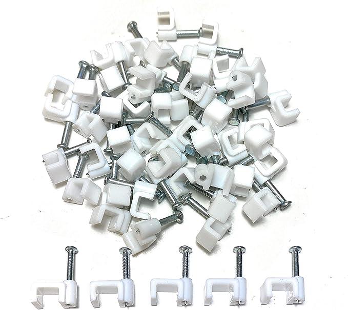 C1766 100x Attache-c/âble fils pontets 4mm fixation avec clou Aerzetix