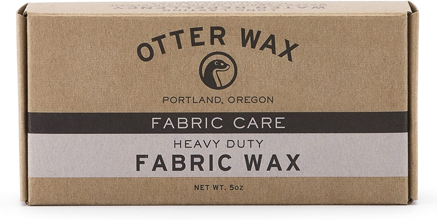 Otter Wax Fabric & Canvas Wax | Large Bar | All-Natural Water Repellent | Made in USA
