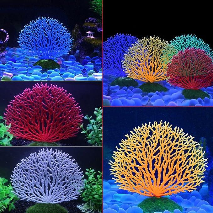 Fdit Decoración Artificial Plant Coral Artificial Coral Ornamento ...