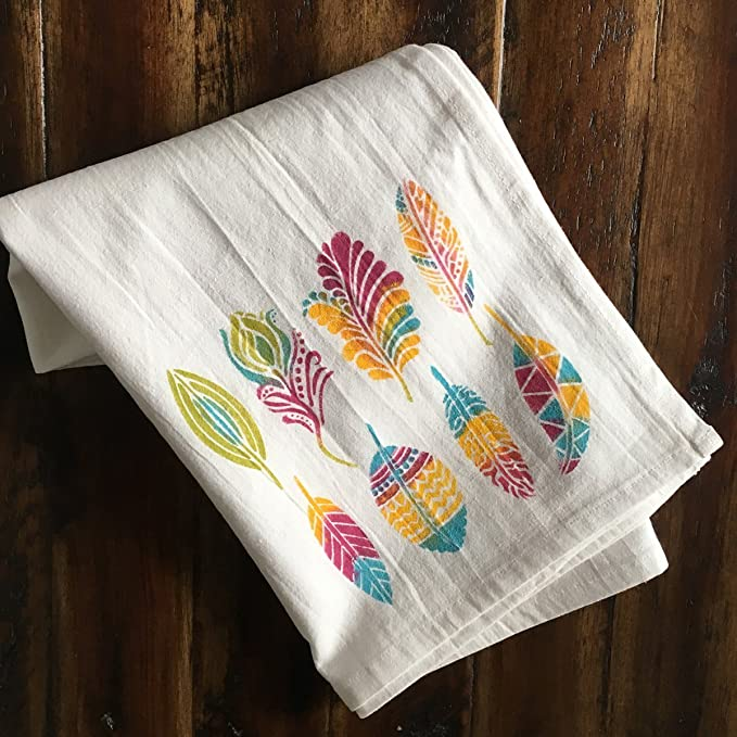 Kit de manualidades DIY Proyecto - -Haga su propia pluma de harina saco toallas de té de con diseños para paños de cocina - -: Amazon.es: Juguetes y juegos