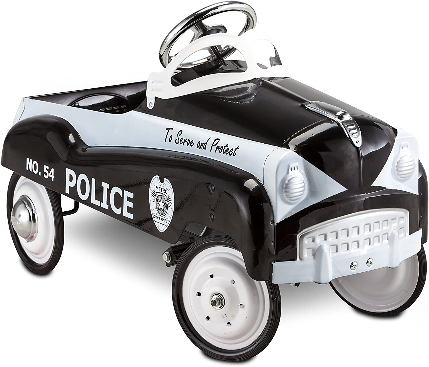 InStep Kids Toy Pedal Car, Toddler Push and Ride On Toy,Police Car