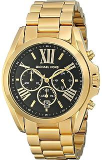 10b6aeb6aafa Michael Kors Goldtone Plated Stainless Steel Bradshaw Watch with Black Dial