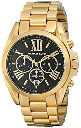 615300b7b9b1 Amazon.com  Michael Kors Women s Bradshaw Gold-Tone Watch MK5739 ...