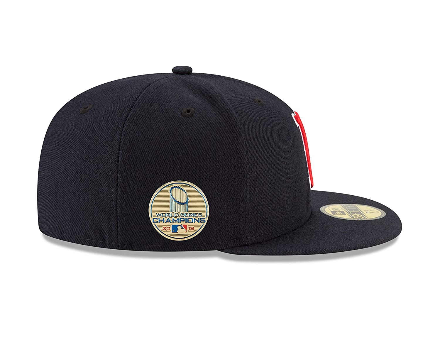 635d61d778b Amazon.com   New Era Boston Red Sox 2018 World Series Champions Side Patch  59FIFTY Fitted Hat - Navy   Sports   Outdoors