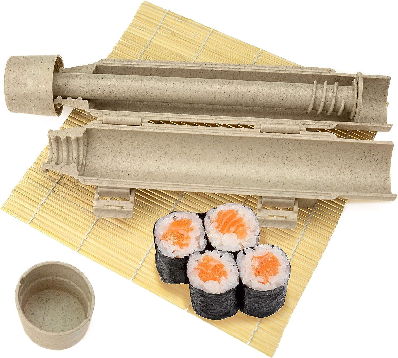 Sushi Mold, Sushi Roller Kit Sushi Bazooka, Sushi Making Kit for Easy Sushi Cooking Rolls Best Kitchen Sushi Tool, Easy Sushi Cooking Rolls, Beginner Sushi Kit