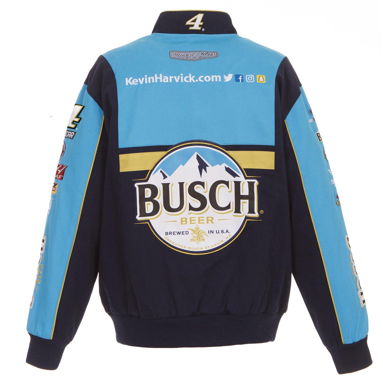 J.H. Design 2018 Kevin Harvick Busch Twill NASCAR Jacket Size Small ...