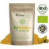 Bio-Kurkuma-Pulver 1kg Kurkumawurzel gemahlen als Gewürz für Paste oder Curcuma Latte natürlich vom-Achterhof