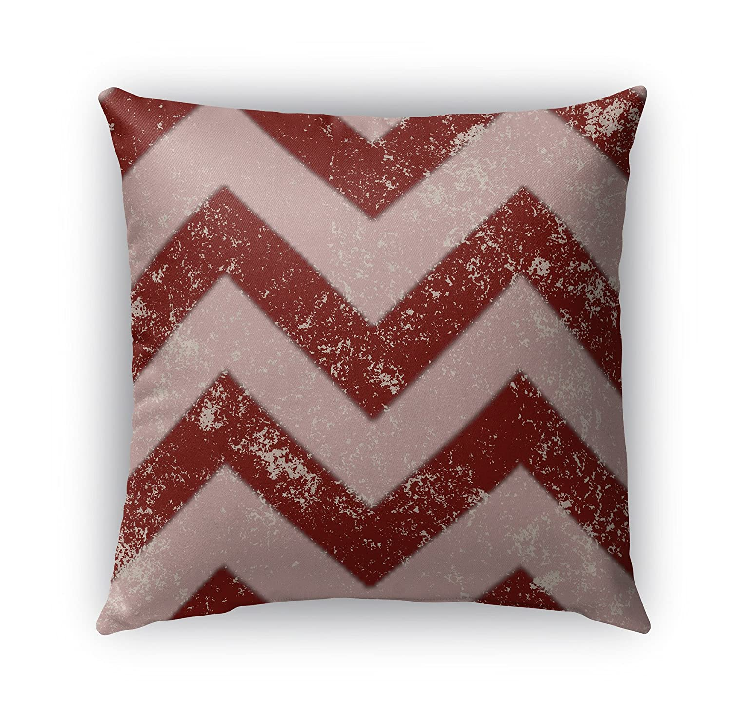 KAVKA Designs Candy Cane Chevron Indoor-Outdoor Pillow, - PLUAVC2503OD18 Size: 18X18X6 - Red//Pink