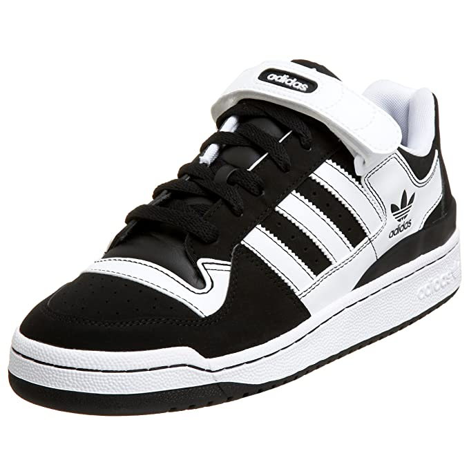 Adidas Men's Forum Lo Rs Sneaker, BlackWhiteWhite, 13.5 M