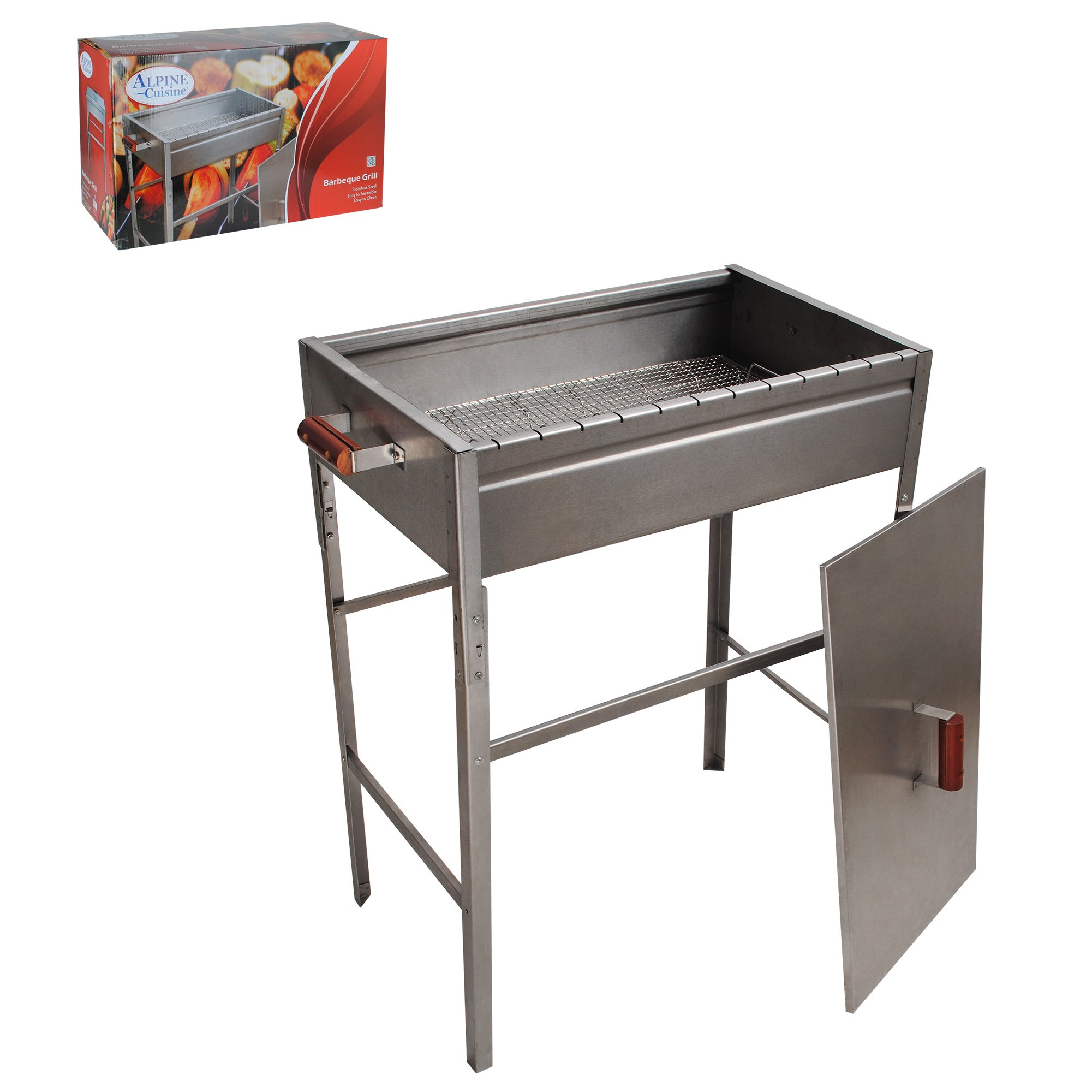 Aramco AI17373 BBQ Grill & Lid, Large, Stainless Steel