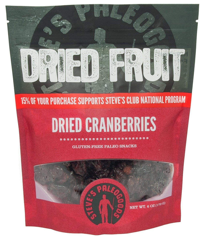 STEVES PALEOGOODS Dried Cranberries, 6 OZ