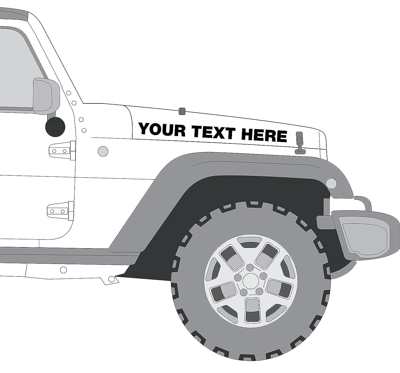 Custom jeep hood decals rubicon wrangler set of 2 amazon ca automotive