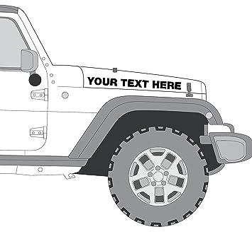 Custom Jeep Rubicon >> Custom Jeep Hood Decals Rubicon Wrangler Set Of 2