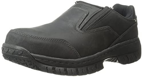 Skechers for Work Men's Hartan Slip-On Shoe, Black, 9.5 M US