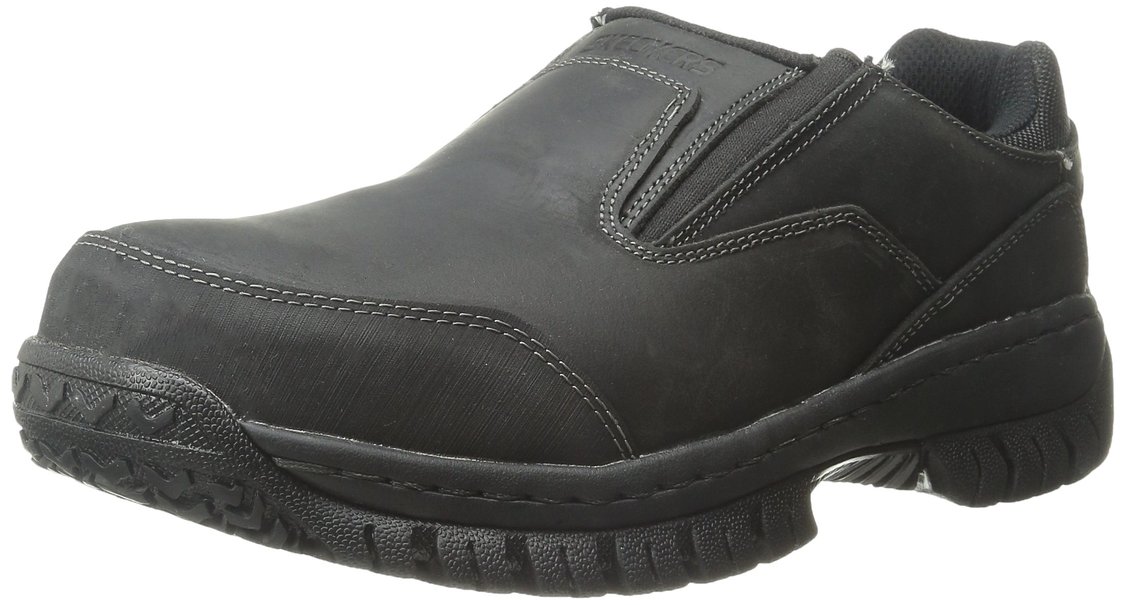 Skechers for Work Men's Hartan Slip-On Shoe, Black, 9 M US by Skechers