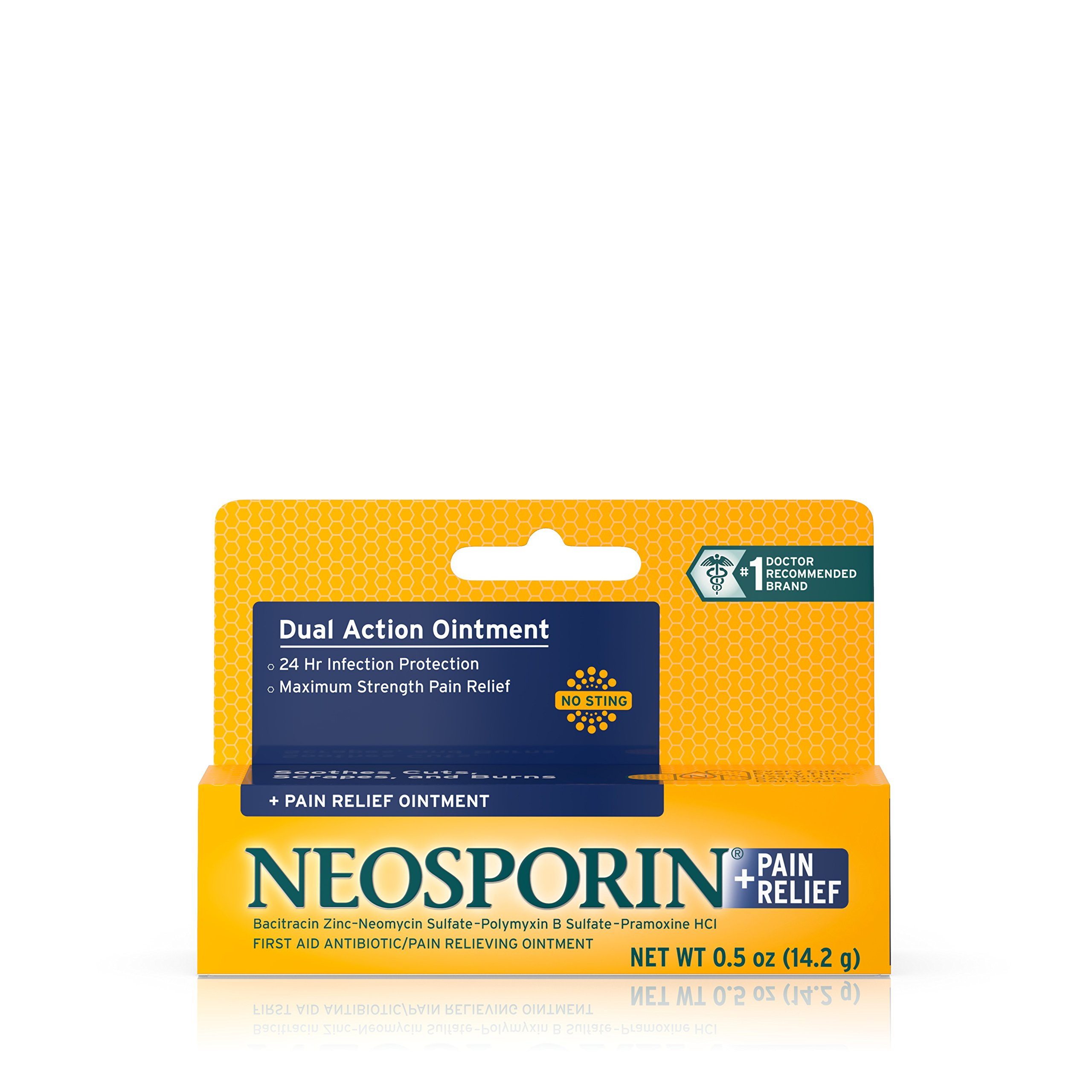 Neosporin Plus Pain Relief Ointment, 0.5 Ounce (Pack of 72)
