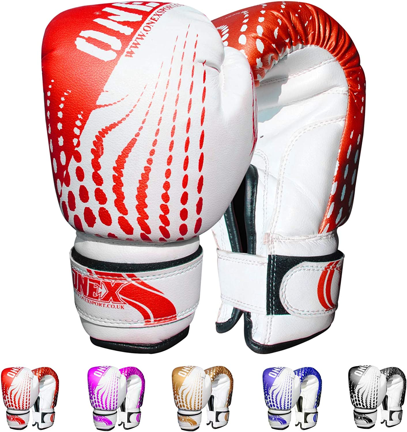 Kids Boxing Gloves Junior Punching Bag Mitts MMA Training Sparring 6oz Red//White