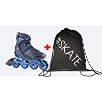 Spokey Set Furry Pattini in Linea + ULTRAPOWER® Mochila de cordón | Bambini | Donne | Hombre | Inline Skates | ABEC7 Chrome | Alluminio | Dimensioni 39-47